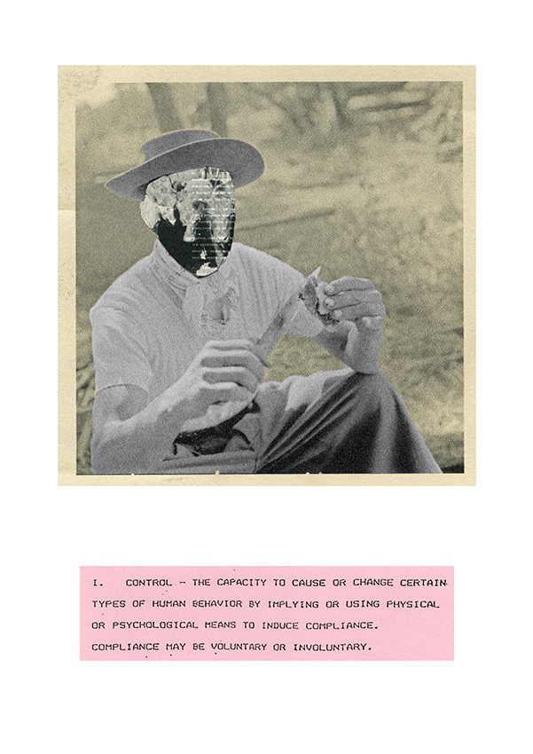 Control / From the series Human Exploitation, 2020, Collage.