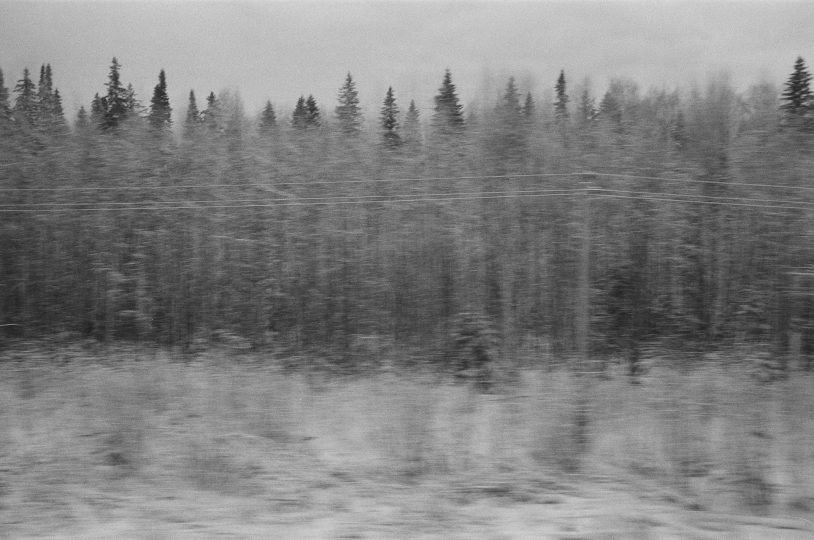 Trans-Siberian train from Moscow to Krasnoyarsk in Russia I / From the series Motherland. Far Beyond the Polar Circle, 2019, 35mm black and white film