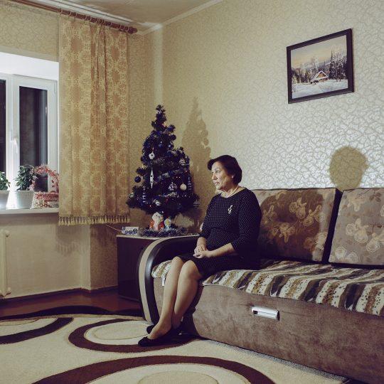 Olga Makara in Igarka, Russia / From the series Motherland. Far Beyond the Polar Circle, 2020, Medium format colour film