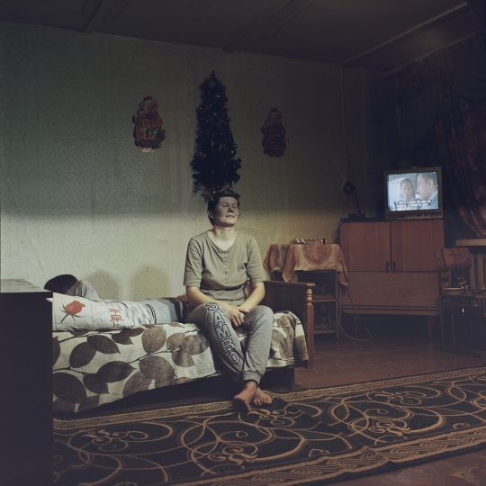 Oksana Eisner in Igarka, Russia / From the series Motherland. Far Beyond the Polar Circle, 2020, Medium format colour film