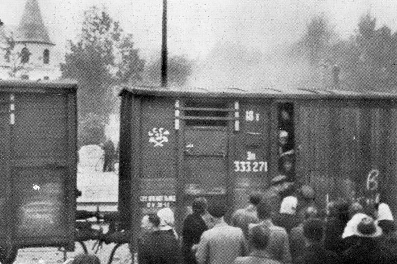 June 14, 1941 – deportation from Latvia to Siberia in Russia / From the series Motherland. Far Beyond the Polar Circle, 1941, Flatbed scan from the copy