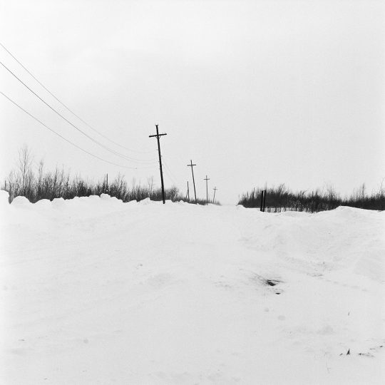 Four crosses in Igarka / From the series Motherland. Far Beyond the Polar Circle, 2020, Medium format black and white film